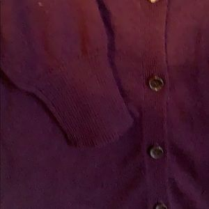 The Limited Sweaters - The Limited plum cardigan
